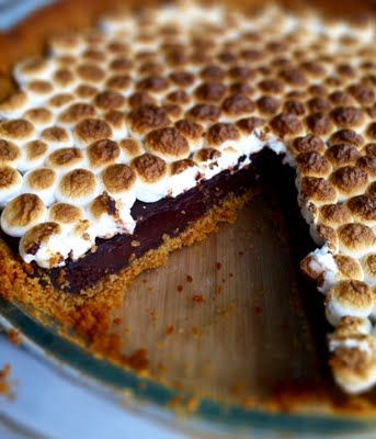 First Prize S'mores Pie - grahams and mallows and chocolate. Sticky and gooey and smooshed together in sugary bliss.