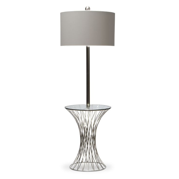 Home accessories polished nickel floor lamp · value city furnitureaccent