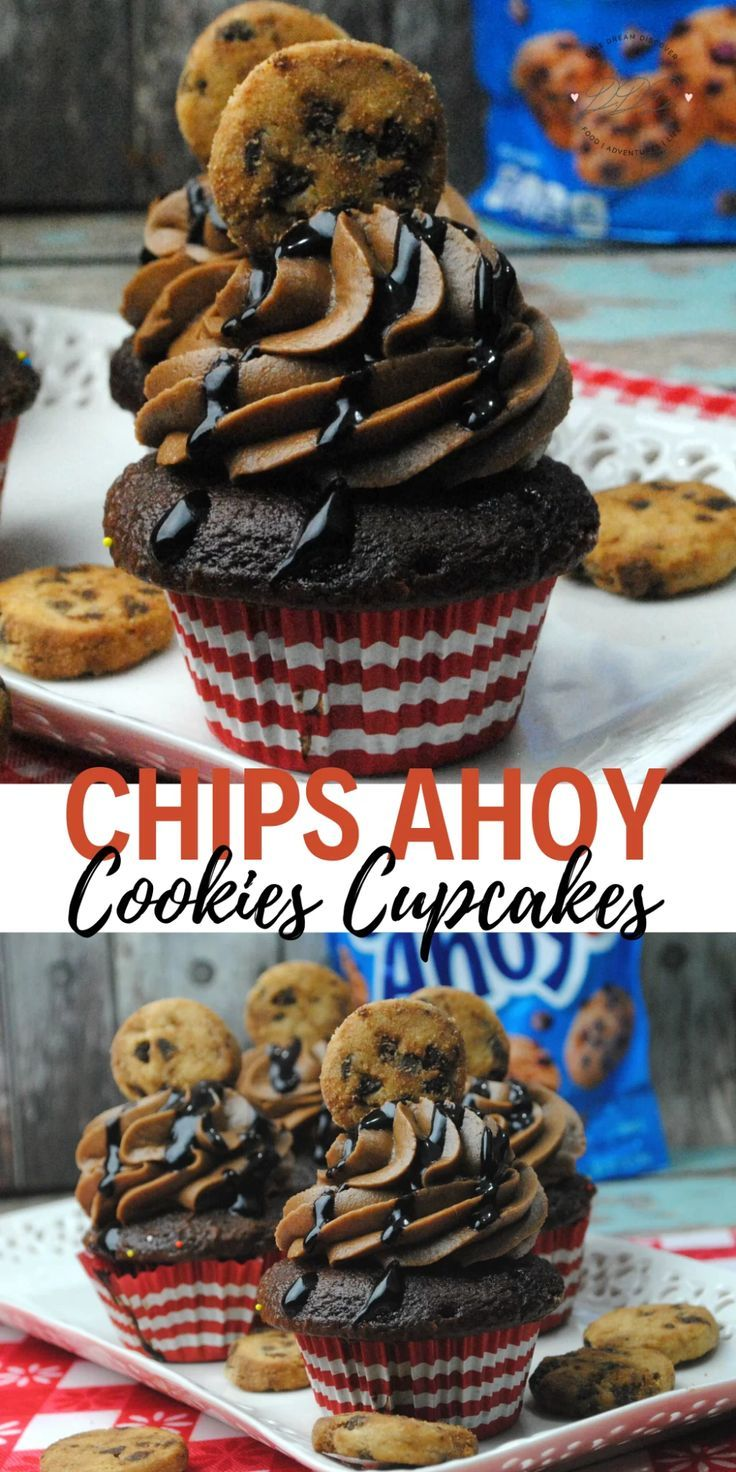 chips ahoy cookie cupcake dine dream discover recipe in 2020 cupcake recipes chips ahoy cookies cupcake cookies pinterest