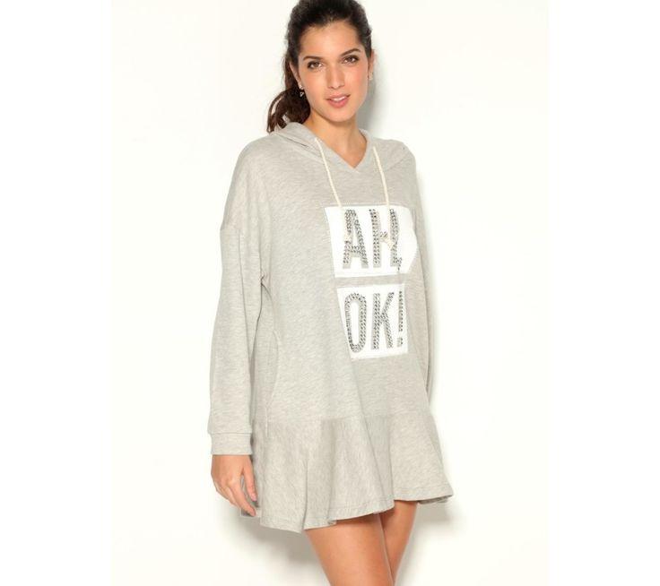Ležérne šaty s volánom a kapucňou | modino.sk #ModinoSK #modino_sk #modino_style #style #fashion #dress