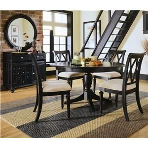 Click Image Above To Purchase American Drew Camden Dark Round Pedestal Table