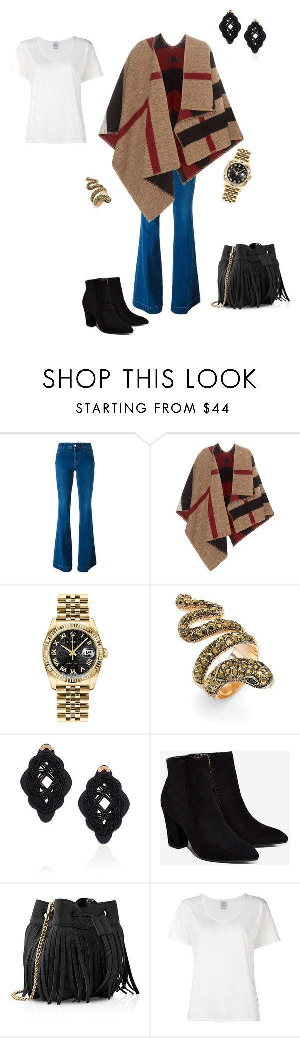 Outfit perfecto para este frío viernes! by michelle-bilodeau on Polyvore featuring moda, Visvim, Burberry, STELLA McCARTNEY, Billini, Whistles, Rolex, Anna e Alex and Palm Beach Jewelry