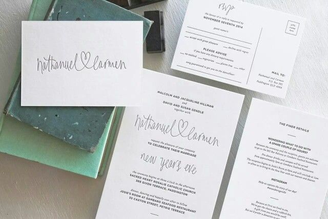 We love designing custom wedding stationery. Here is a beautiful set featuring hand-lettering for the couples names - Nathanuel (heart) Carmen - letterpressed in our studio on 600gsm gmund cotton paper. This lovely coupke were married on new years eve! So romantic! Check out or work at creativeemporium.com.au   #letterpress #wedding #stationery #invitations #custom #typography #love #heart