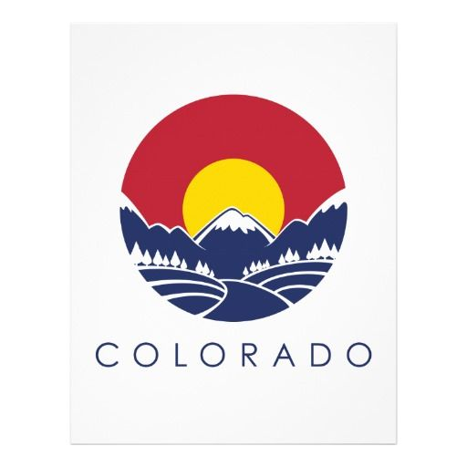 Colorado flag with mountains