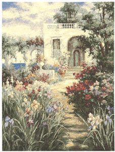 Гобелен Картина Терраса в саду  70x93