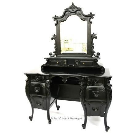 Black victorian vanity | Dream home | Pinterest | Vanities ...