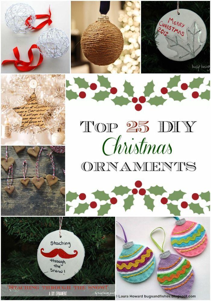Top 25 DIY Christmas Ornaments