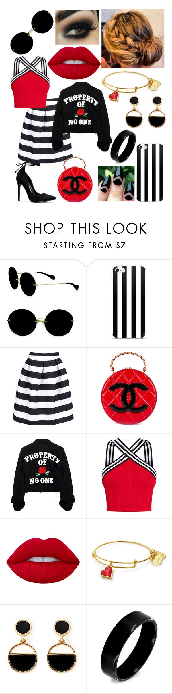 """""""Polyversary"""" by magoo3514 ❤ liked on Polyvore featuring Miu Miu, WithChic, Chanel, Lime Crime, Warehouse, West Coast Jewelry, polyversary and contestentry"""