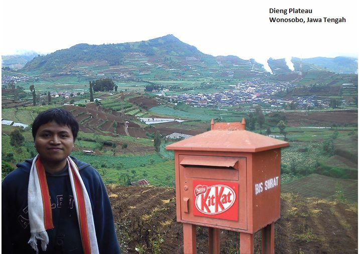 Kit kat post journey at Dieng Plateau Wonosobo - Indonesia