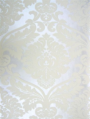IN STOCK NOW Feature Wallpaper Roll White on White Textured Vinyl VINTAGE DAMASK