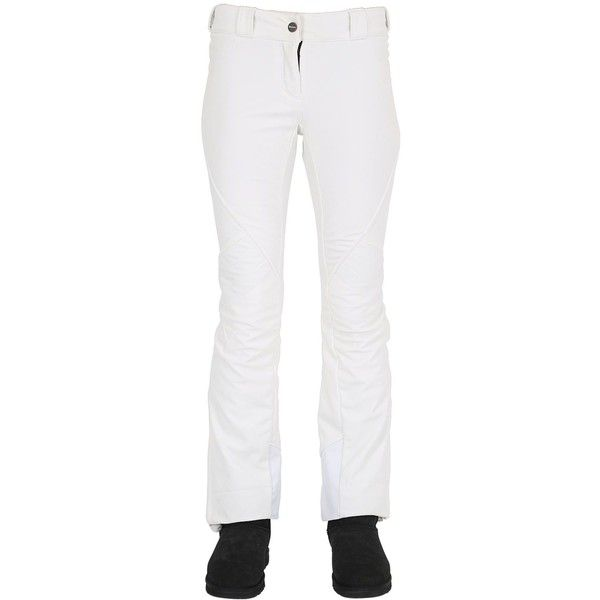 Dainese Multisport Women Slim 2 Skin Nylon Ski Pants ($300) ❤ liked on Polyvore featuring pants, white, nylon pants, slim trousers, slim ski pants, button pants and slim fitted pants