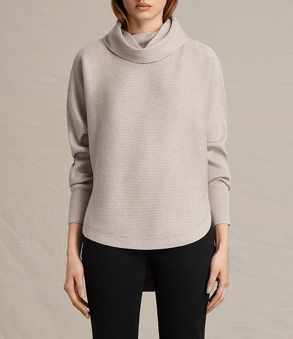 Womens Rio Roll Neck Sweater (QUARTZ PINK MARL) - product_image_alt_text_1