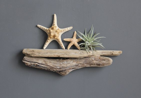 Small Natural Driftwood Shelf. $38.00, via Etsy.: