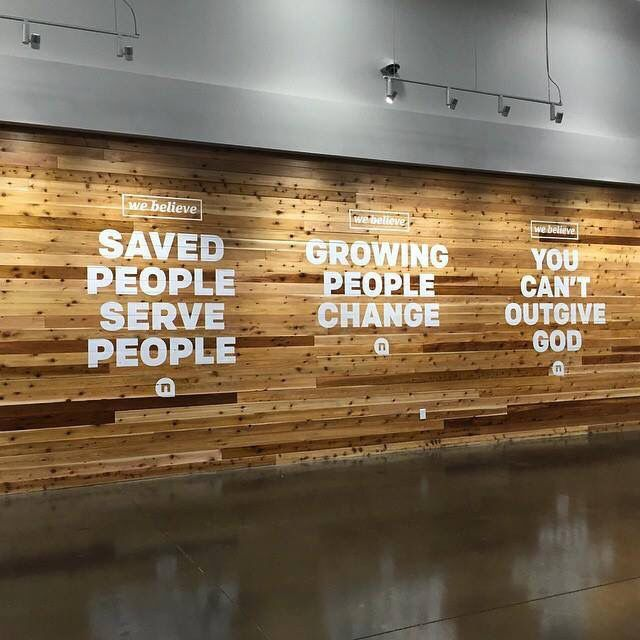 Mission Statement On The Wall In Entryway Church Experience Designs Pinterest Vinyls