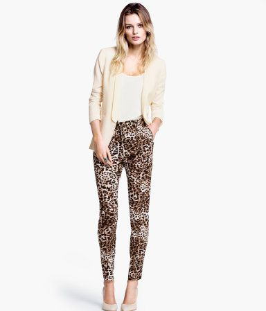 Pantalones de leopardo de H