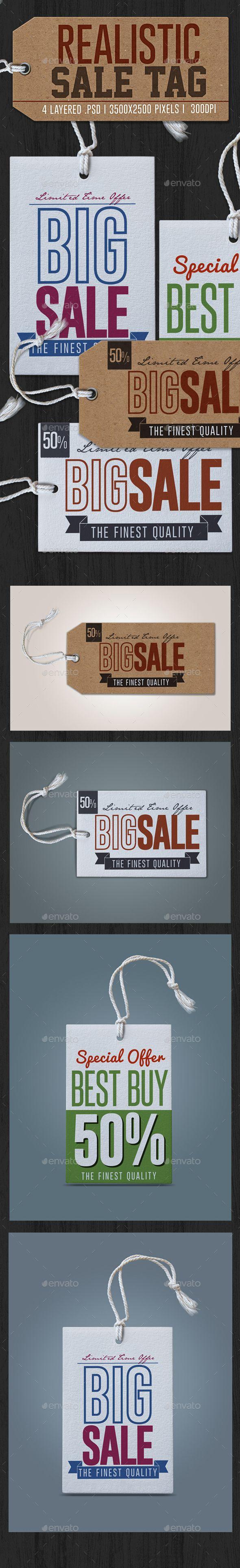 Realistic Sale Tag