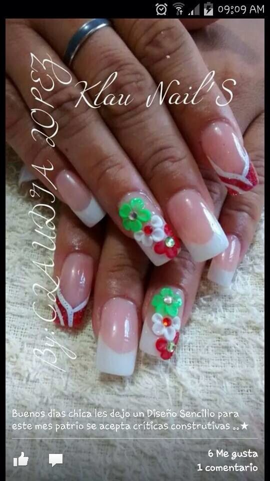 9 best UÑAS MEXICANAS images on Pinterest   Mexican nails, Mexicans ...