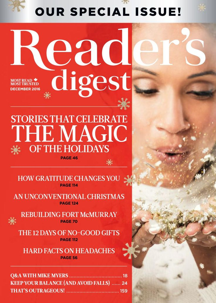 @rdcanada December 2016: Stories That Celebrate the Magic of the Holidays