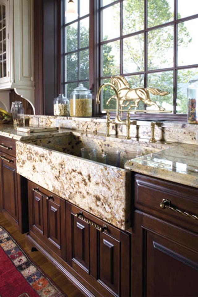 108 Best Cool Natural Stone Kitchen Sinks In Granite