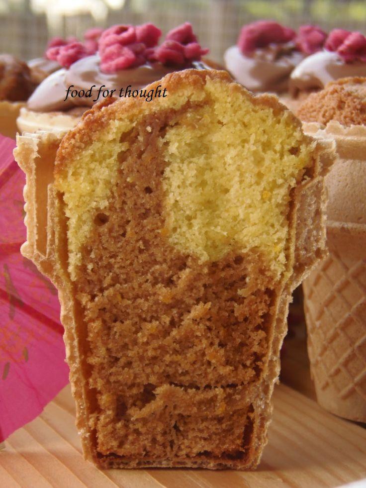 Cupcakes με μερέντα σε χωνάκια παγωτού  http://laxtaristessyntages.blogspot.gr/2013/05/cupcakes.html