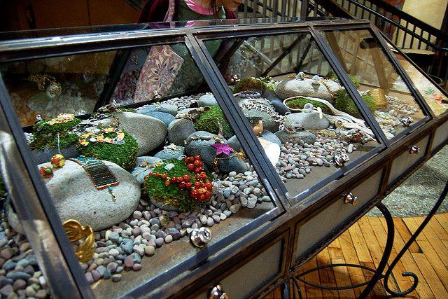 Jewelry Display with rocks
