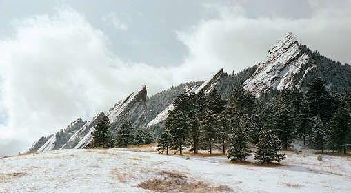 Boulder, Colorado.  The Flatirons