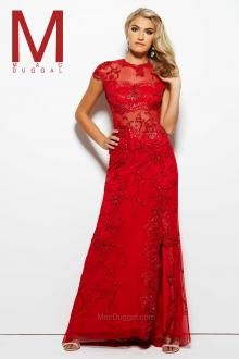 Feel enchanting with the Spring 2016 Mac Duggal Prom Dress Collections.   Red Prom Dress, Cap Sleeve  Style 1903M