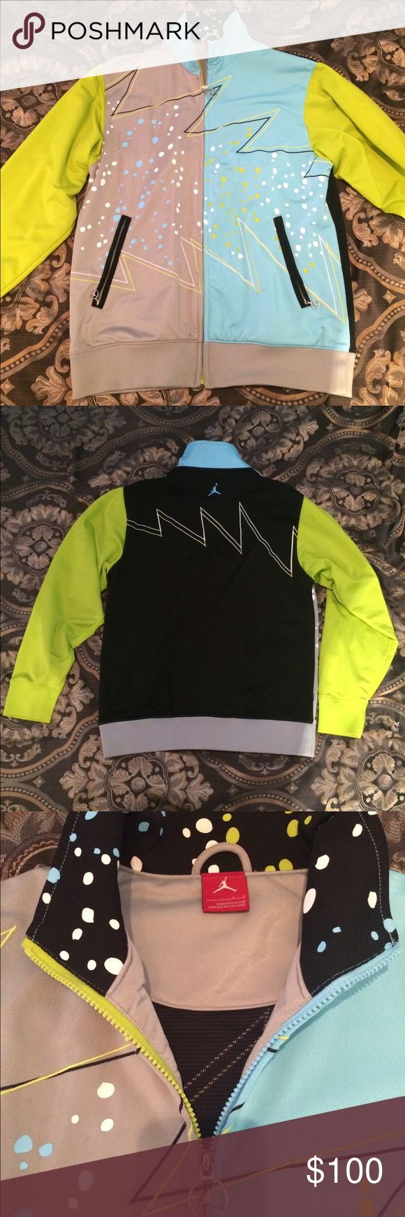 Nike Air Jordan jacket Awesome colorful Jordan jacket with mesh liner. In excellent condition, has only ever been dry cleaned. Make an offer! Jordan Jackets & Coats Performance Jackets