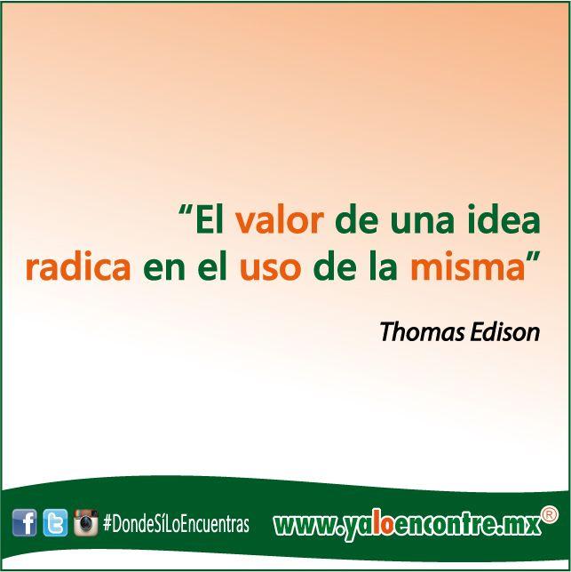 El Valor de las #Ideas  #Frases #Motivación #Inspiración