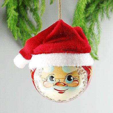 Santa Christmas Ball Tree Ornament