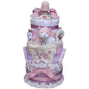 Gifts for Expectant Mothers -How to Make a Baby Diaper Cake ...