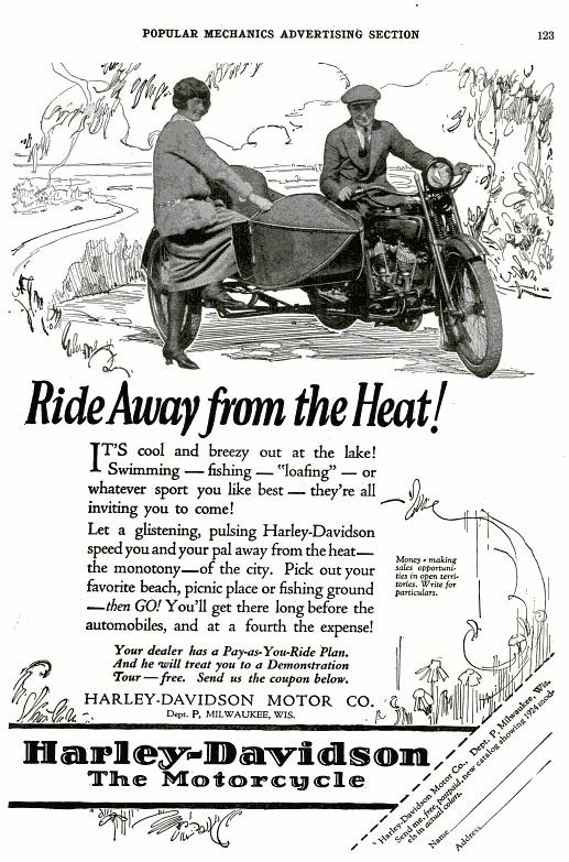 Harley Davidson Advertising: 1000+ Images About Vintage Harley-Davidson Ads On