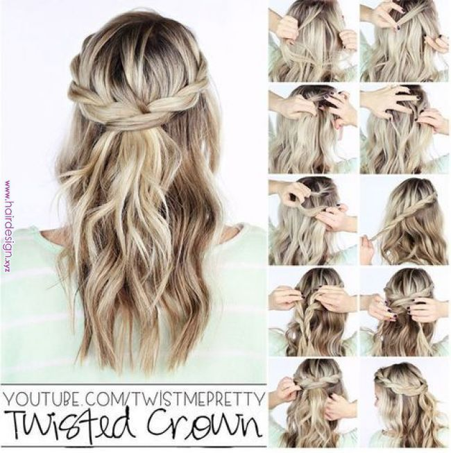 Inspire yourself with beautiful hairstyles with Z ... - #dich # hairstyles #halboffe