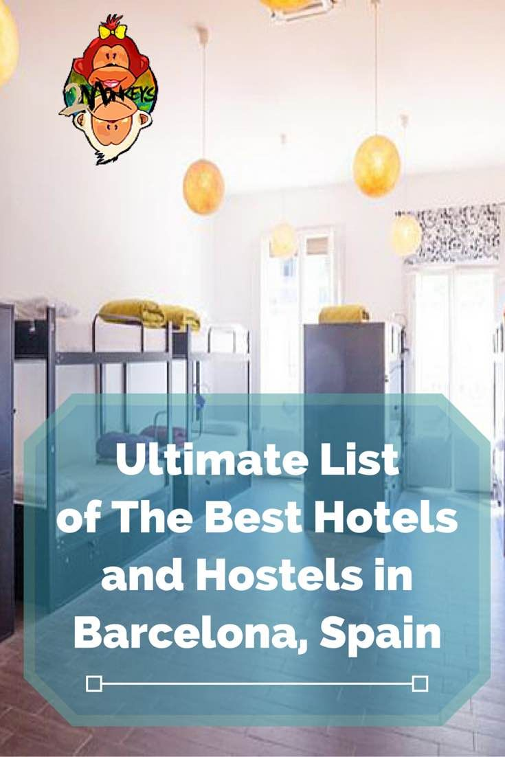 ultimate list of the best hotels and hostels in barcelona spain