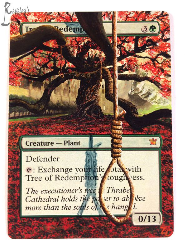 Tree of Redemption - Extended MTG Alter - Revelen's Light Altered Art Magic Card #WizardsoftheCoast