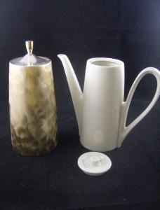 Old BMFN Bavaria Porcelain Chocolate Pot w Metal Cover | eBay