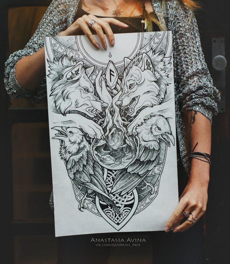 The 25+ Best Yggdrasil Tattoo Ideas On Pinterest