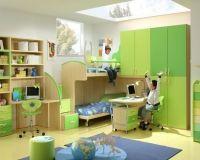 Mobila Camera Copii Verde din PAL si MDF Rafael