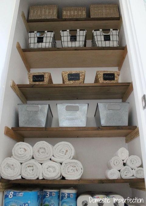 Организация хранения запасов в ванной