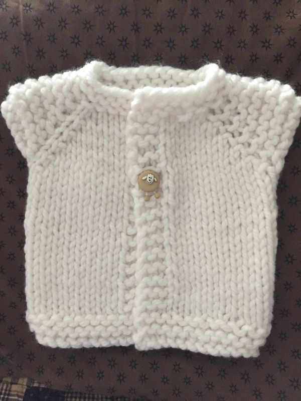 Finished Wee Fast baby sweater!!!!