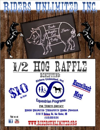 **1/2 Hog Raffle 2015- Riders Unlimited Inc. Therapeutic ...