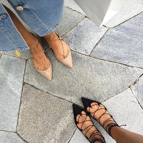 theyallhateus-by-tash-and-elle:  Hello @elle_ferguson @aquazzura vs @louboutinworld strappy shoe heaven by tashsefton