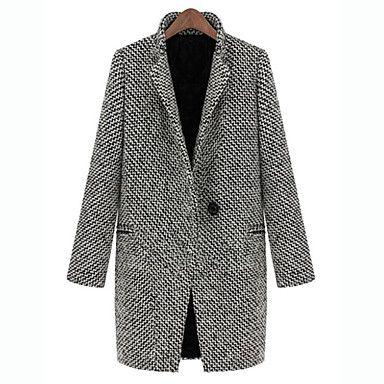 wool houndstooth coat