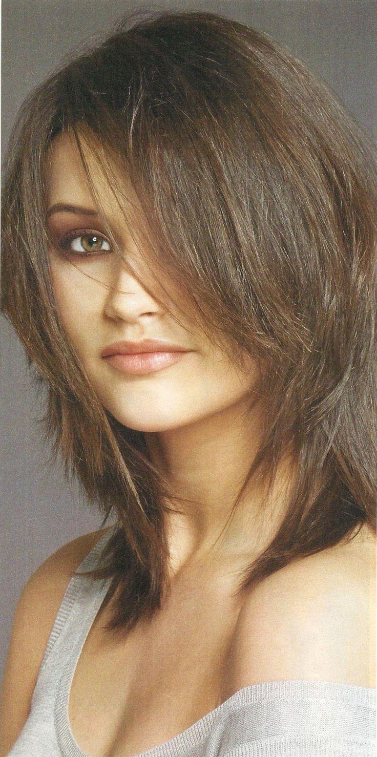 Cu cute bob hairstyles for women over 50 - Shoulder Length Hairstyles Shoulder Length Shag Hairstyle Very Cute Brunette Choppy Layered