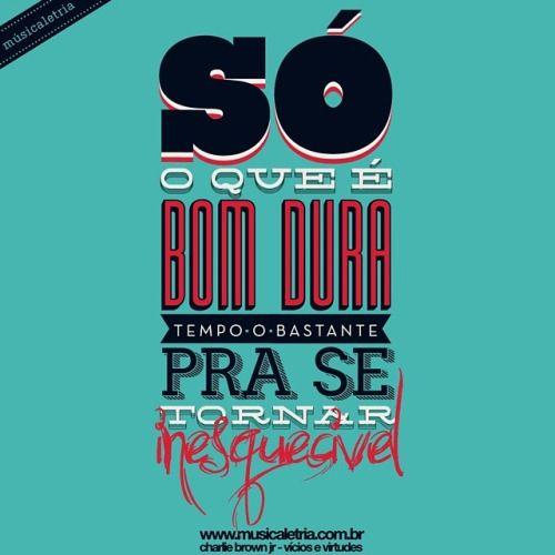 ⚫ vícios e virtudes - charlie brown jr ⚫www.musicaletria.com.br ⚫ #musicaletria #tipografia #typography #Chorao #charliebrownjr #cbjr ⚫