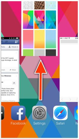 How to force-close apps on iOS 7—In the past, double-clicking the home button would reveal app icons you could then long press on and close...out -- not on iOS 7.