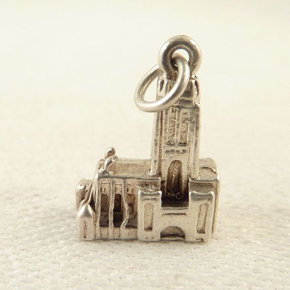 Vintage Sterling Detailed Miniature Cathedral Charm