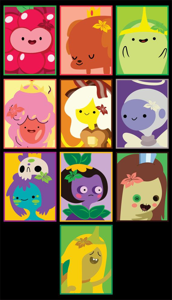 Princesses of Adventure Time Stickers 10pk