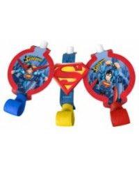 Superman Parti Düdüğü 6 Adet