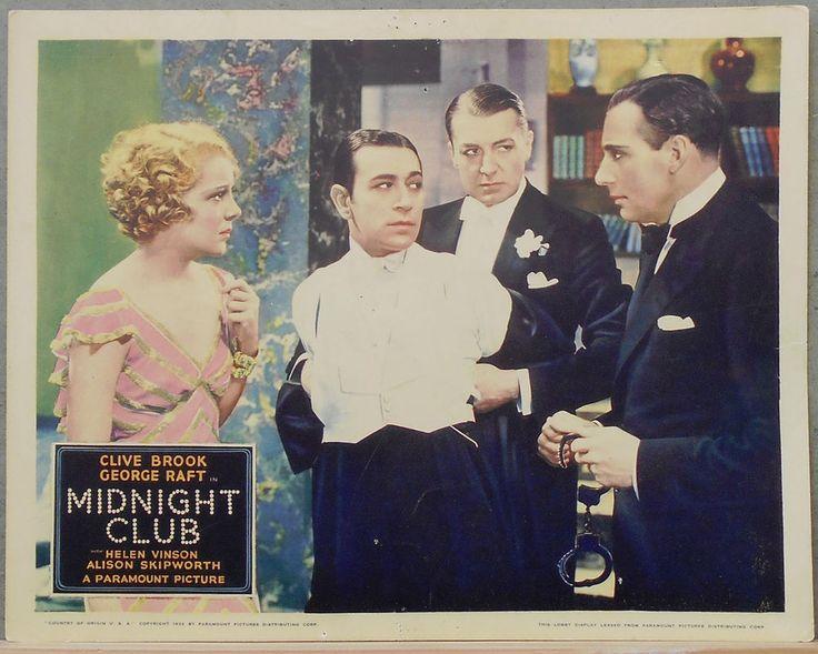 LCJ 005 MIDNIGHT CLUB CLIVE BROOK GEORGE RAFT HELEN VINSON Orig US Lobby Card | Entertainment Memorabilia, Movie Memorabilia, Lobby Cards | eBay!